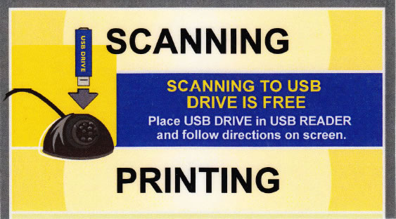 UCB Library Scanning to USB drive is free