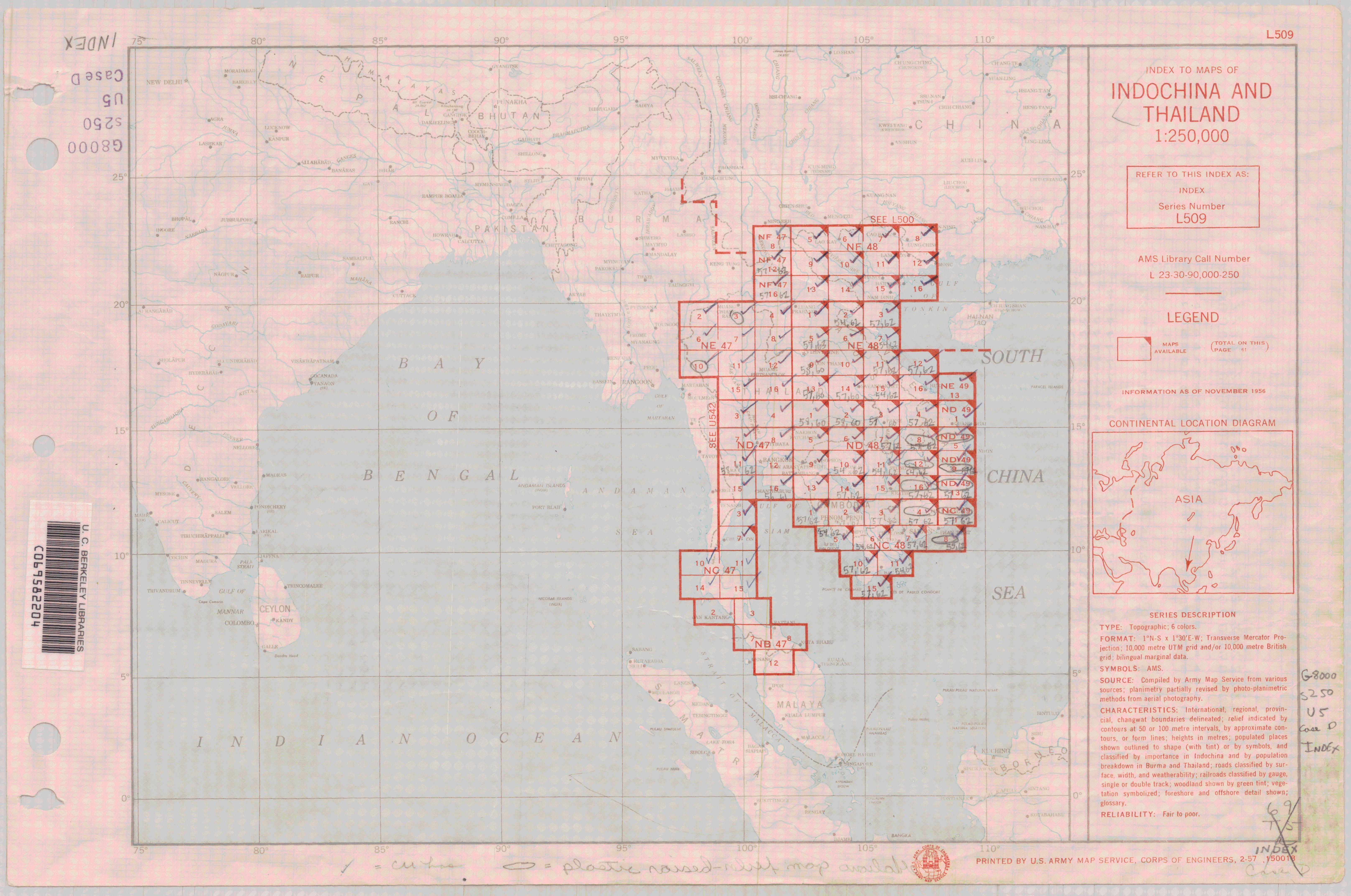 Us Army Map Service Ams Series Index Maps - Us-army-maps-india