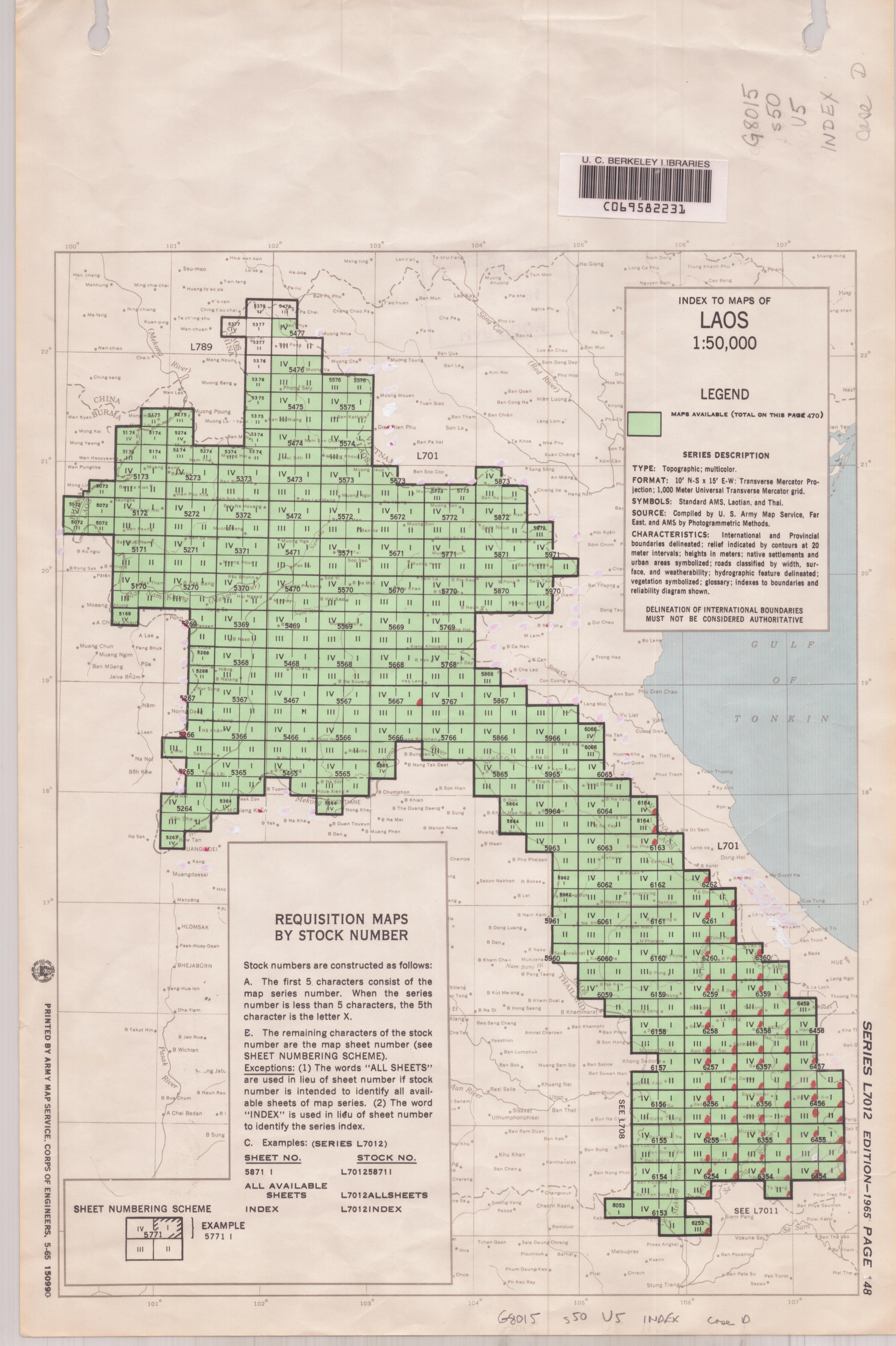 Laos 1:50,000 (Map, 1963) [WorldCat.org]