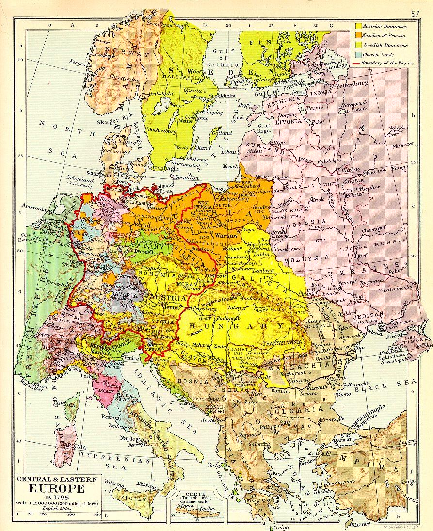 Europe 1795 Map