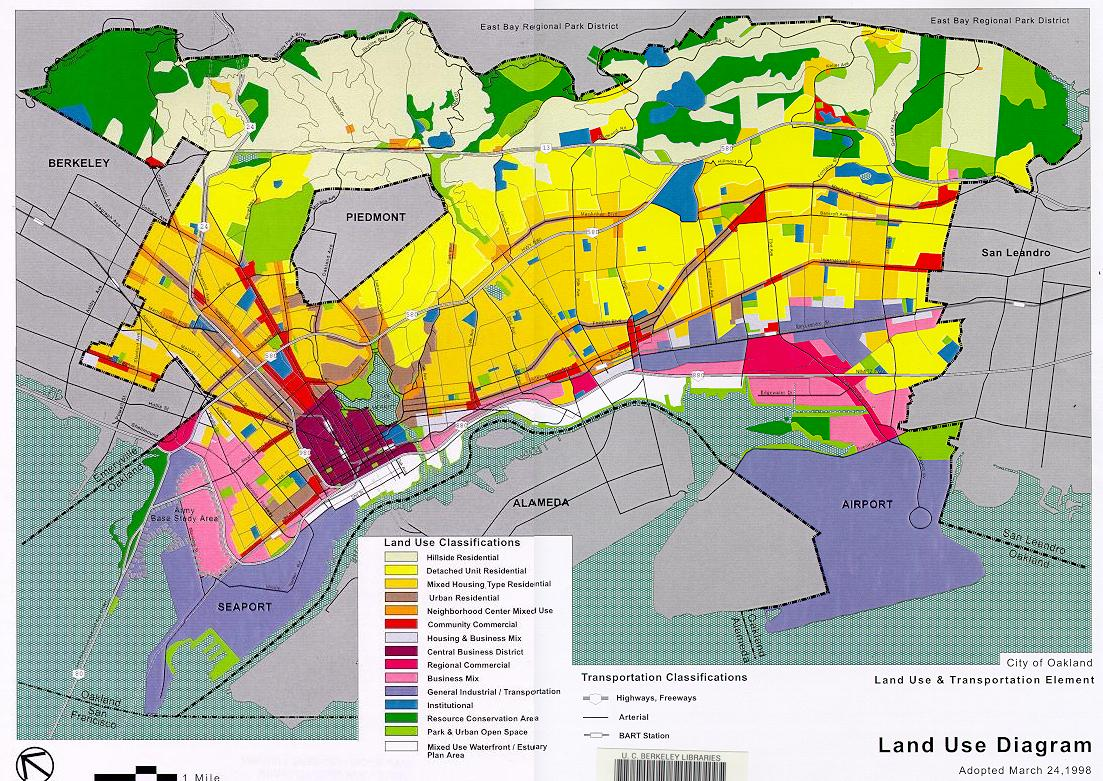 Land Use Map Oakland California Land Use Map