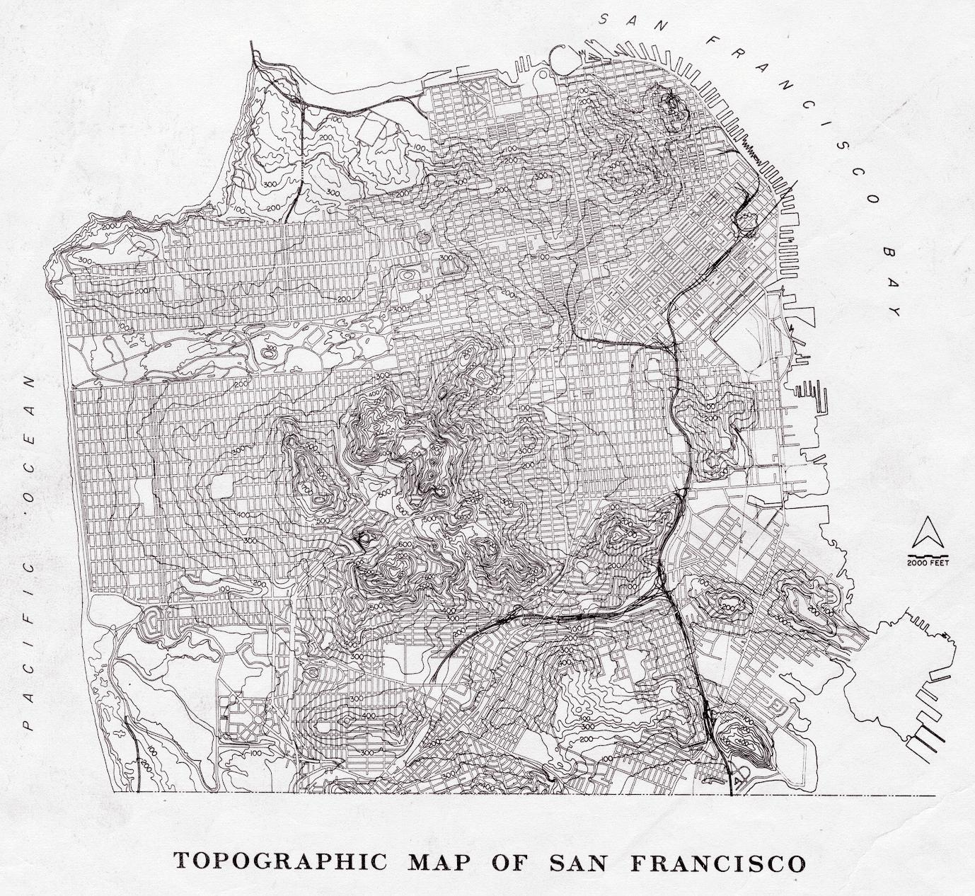 San francisco map of usa