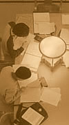 Photograph: Students studying, Gardner Stacks, Doe Library