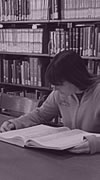 Photograph: Woman Reading, Doe Library