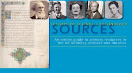 Bancroft Library History of Science and Technology collection site graphic