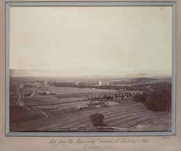 View from the university ground [sic] at Berkeley: the Golden Gate (in the distance) UARC PIC 03:226a—FR