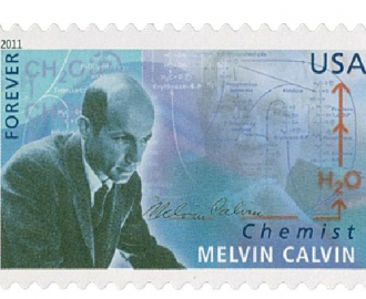 Photo of stamp of Melvin Calvin