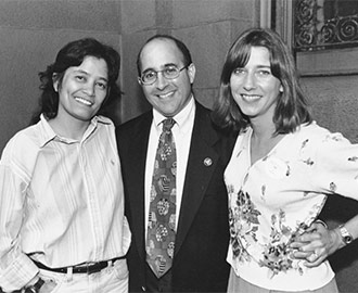 Photo of Freedom to Marry founder Evan Wolfson, with the plaintiffs in Baehr v. Miike, the first marriage case brought to trial. Photo courtesy of Marilyn Humphries
