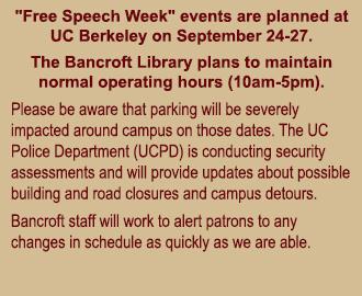Free Speech Week Alert