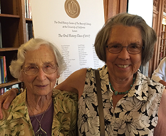 Photo of Malca Chall with her interviewer Ann Lage at OHC Class of 2017 celebration