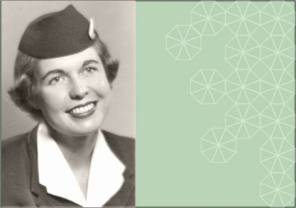 Nancy Donnelly Praetzel in stewardess uniform