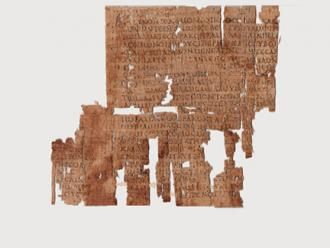 P.Tebt. 265 (second century AD): Lines from Book 2 of the Iliad, with marks of punctuation, alterations, and occasional accents.