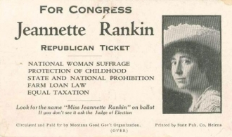 Jeannette Rankin for Congress poster