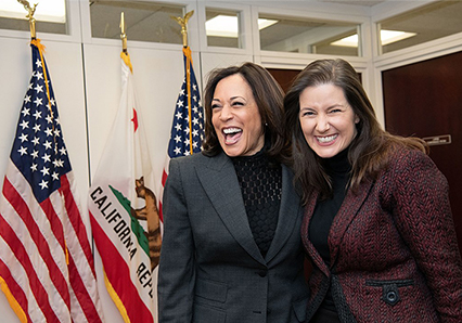 Libby Schaaf and Kamala Harris