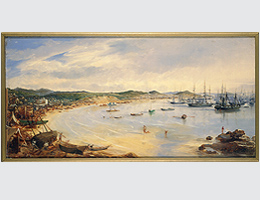 "Ferran, Augusto (1813-1879) ""View of harbor at San Francisco, California, 1850"" BANC PIC 1963.002:1356"
