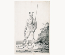 "Langsdorff, Georg Heinrich von (1773-), German, artist ""Young Nukahivan not completely tattooed, Marquesas Islands, Oceania, ca.1803-1807"" BANC PIC 1963.002:1007—ffALB"