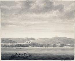 "Langsdorff, Georg Heinrich von (1773-), German, artist (artist) ""Spanish establishment of St. Francisco in New California, 1806"" BANC PIC 1963.002:1021—FR Kruzenshtern/Rezanov/Langsdorff expeditions"