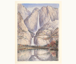 "Friend, Washington F. (1820-1886), British, artist (artist) ""Yosemite Falls in autumn, Yosemite Valley, California, ca. 1855"" BANC PIC 1963.002:0398—B"