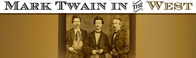 Mark Twain in the West exhibit banner
