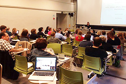 Photo of Shanna Farrell teaching at 2015 Spring Workshop