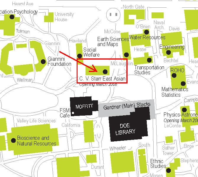 uc berkely campus map Directions Uc Berkeley Library uc berkely campus map