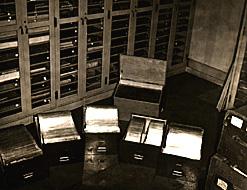 papyri fragments mounted in Vinylite, 1940