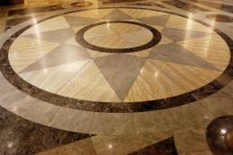 Detail of marble floor in The Bancroft lobby, 2014