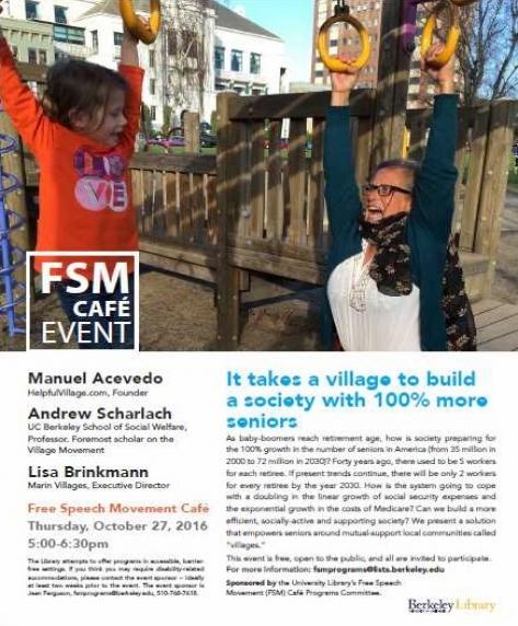 FSM Cafe Event 10/27/16 - It Takes a Village