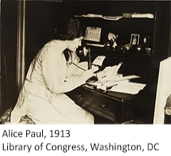 Photo of Alice Paul, 1913, Library of Congress