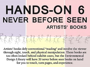 Hands-On 6: Never Before Seen Artist Books, Oct. 28