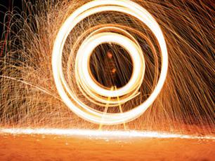 Swirl of golden light