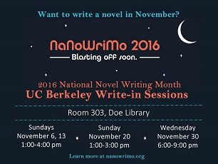 Come Write In: National Novel Writing Month in the Library